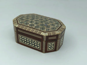 Shell Engraved Wooden Box - Octagon
