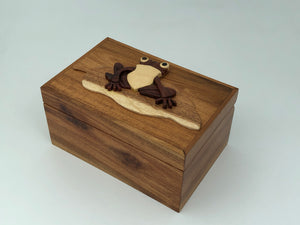 Frog Decorated Wooden Box