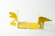 Load image into Gallery viewer, T-Rex Shaped Yellow Bookends