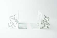 Load image into Gallery viewer, Unicorn Shaped White Bookends