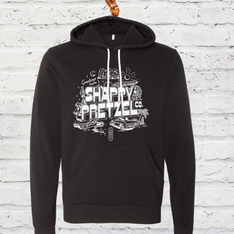Greetings from Shappy Pretzel Hoodie- Black