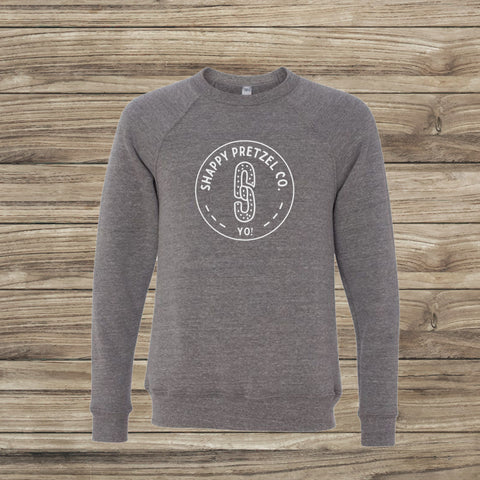 Shappy Pretzel Logo Sweatshirt in Heather Grey