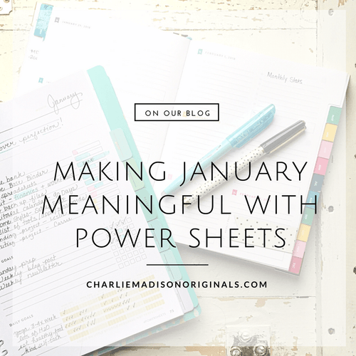 Making January Meaningful with Power Sheets
