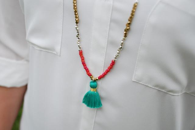 Tassel Necklace Featured On Bloom Into Beautiful