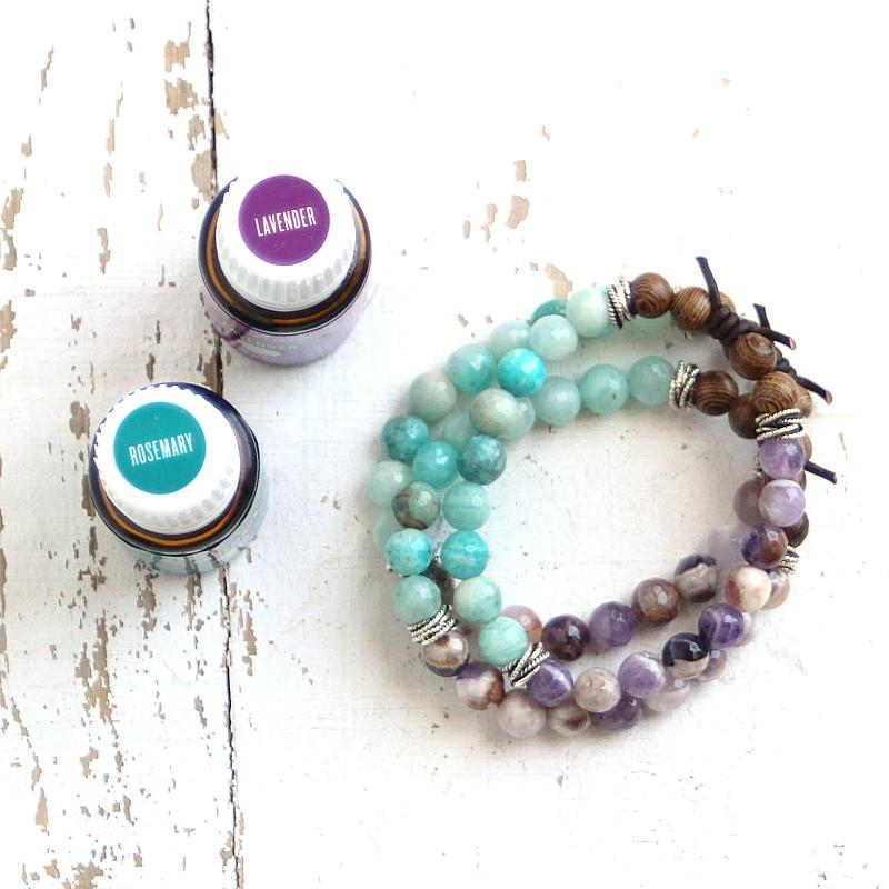 Essential Oil Diffuser Bracelet Blend of the Day | Lavender + Rosemary