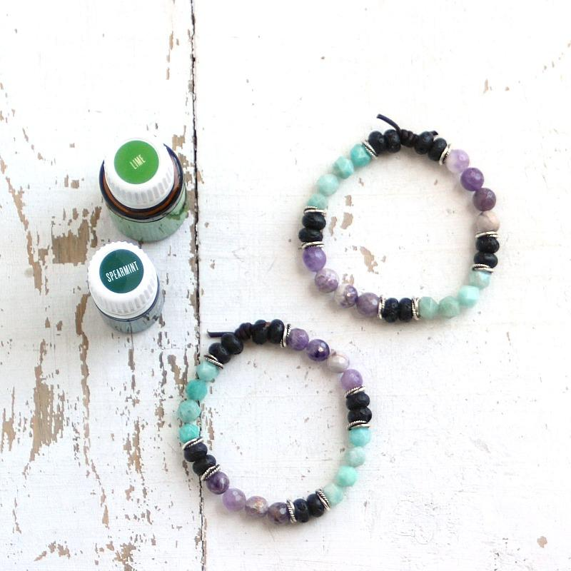 Essential Oil Diffuser Bracelet Blend of the Day | Spearmint + Lime
