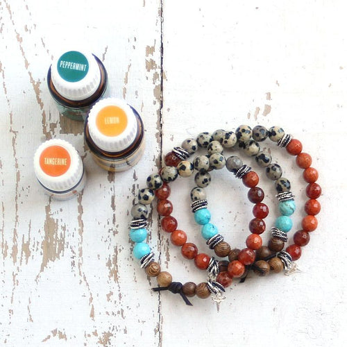 Essential Oil Diffuser Bracelet Blend of the Day | Peppermint + Lemon + Tangerine