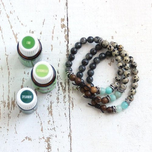 Essential Oil Diffuser Bracelet Blend of the Day | Spearmint + Lime + Citronella