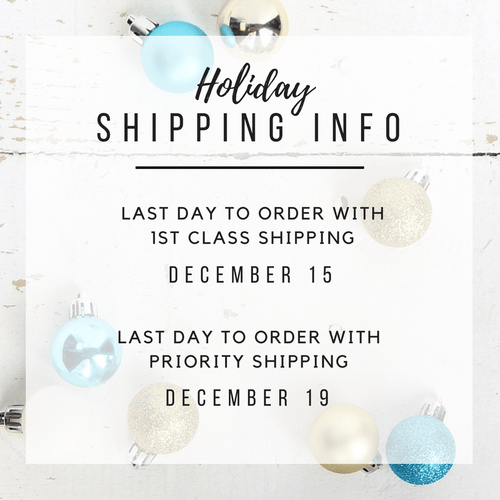 Holiday Order Deadlines - Charliemadison Originals LLC