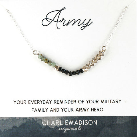 Army necklace, military jewelry, Army wife jewelry, Army wife necklace