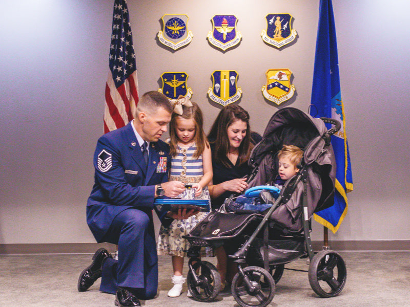 Brittany Boccher, Air Force family, military spouse