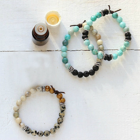 Essential oils and diffuser bracelets