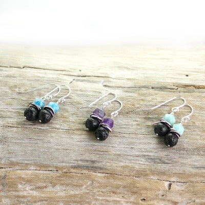 Essential oil diffuser earrings