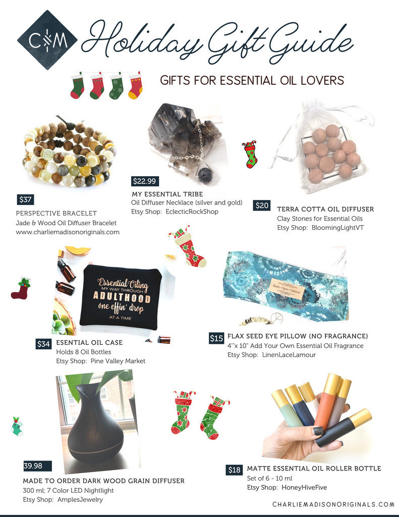 Holiday gift guide - unique gifts for the essential oil lover