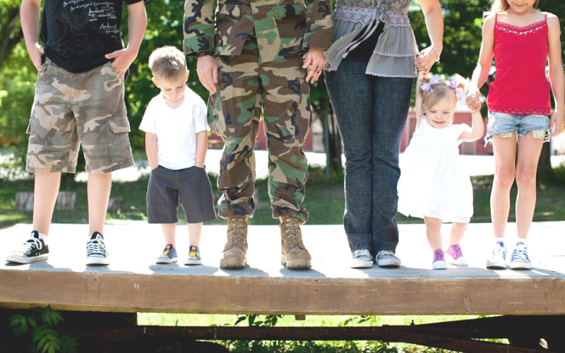 Flossie Hall, military family