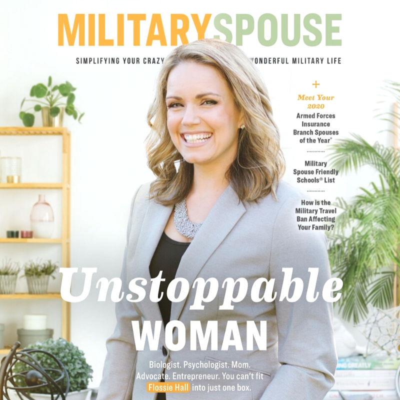 Flossie Hall, military spouse