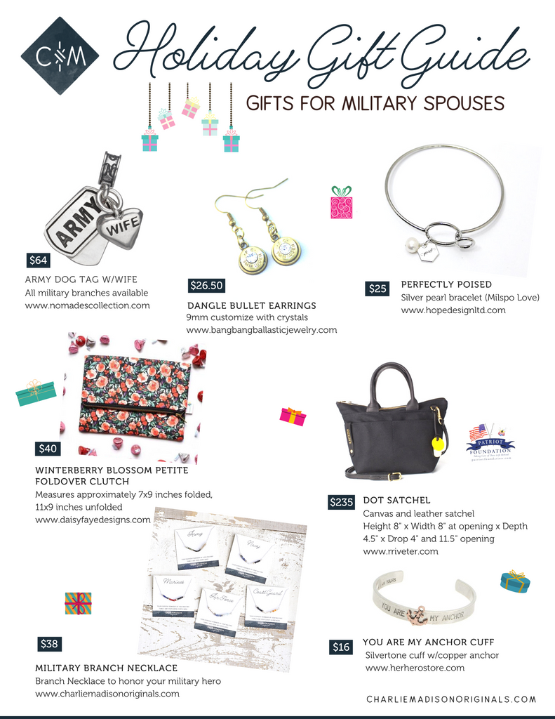 Holiday Gift Guide - Gifts for military spouses