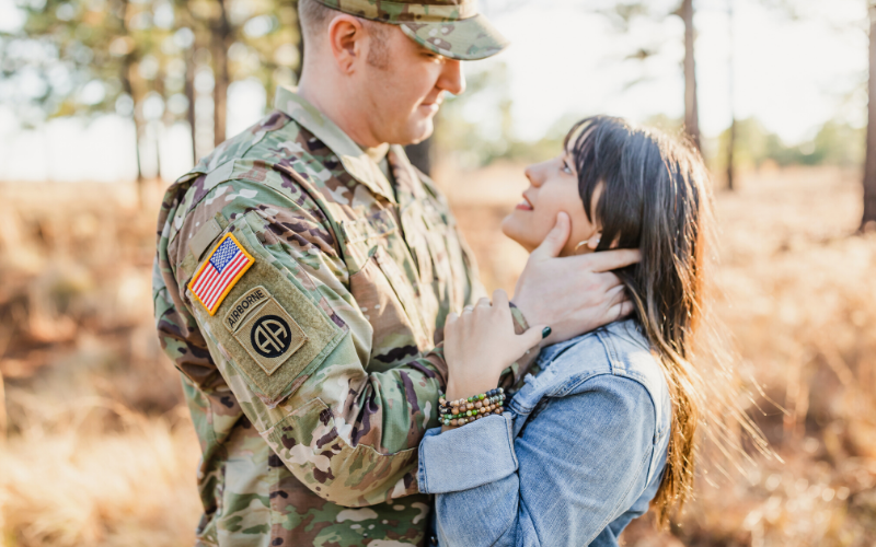 Army family - military marriage day