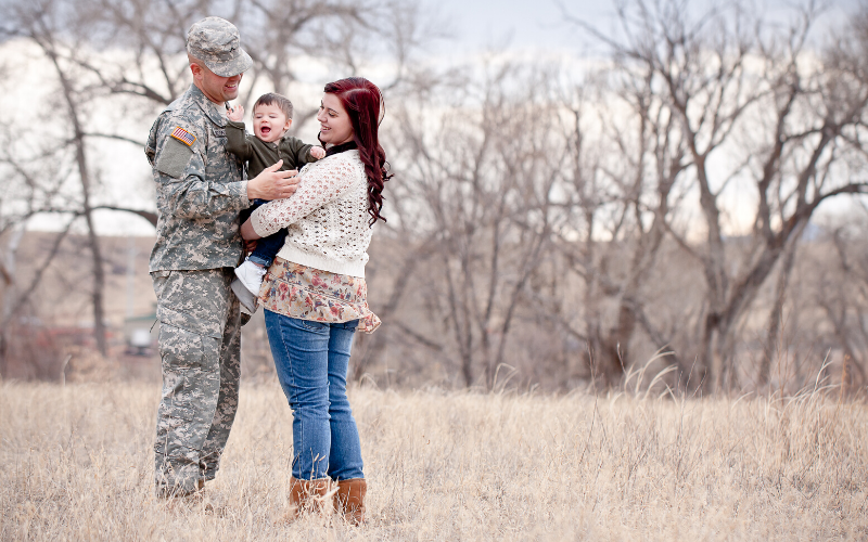 Military marriage, military family