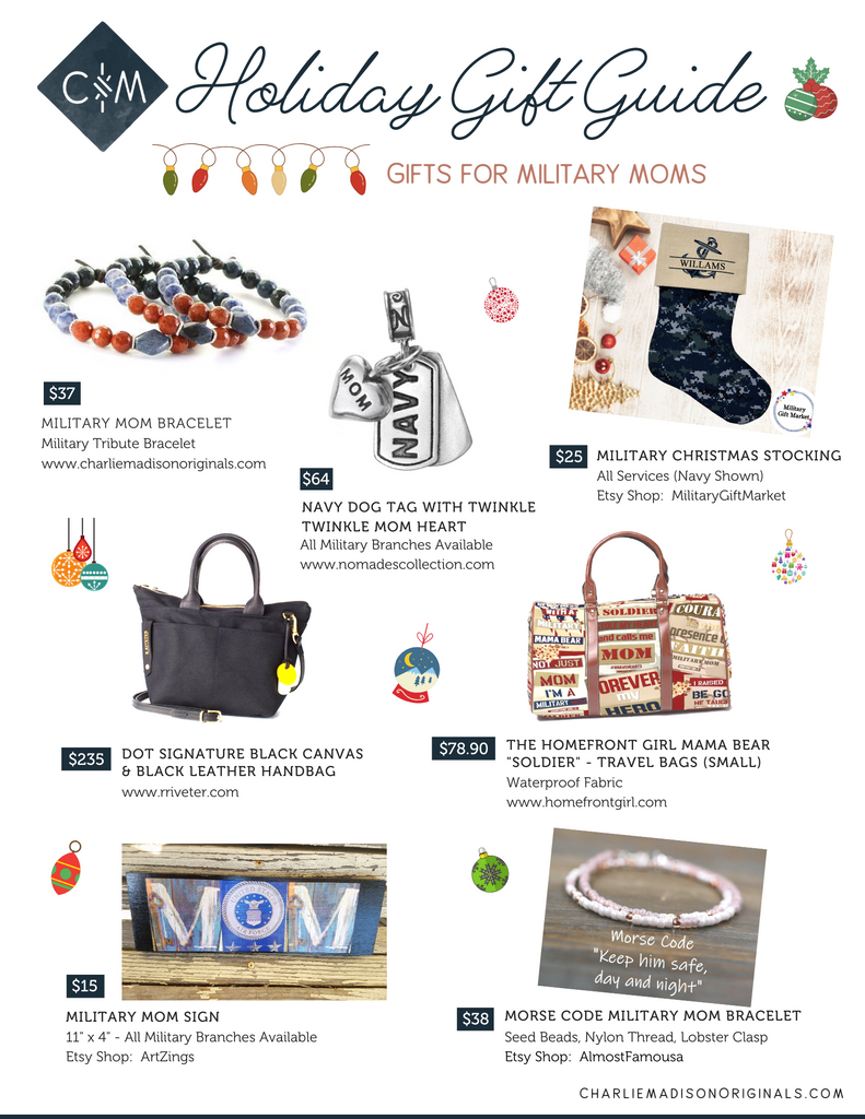 Holiday Gift Guide - Gifts for military moms