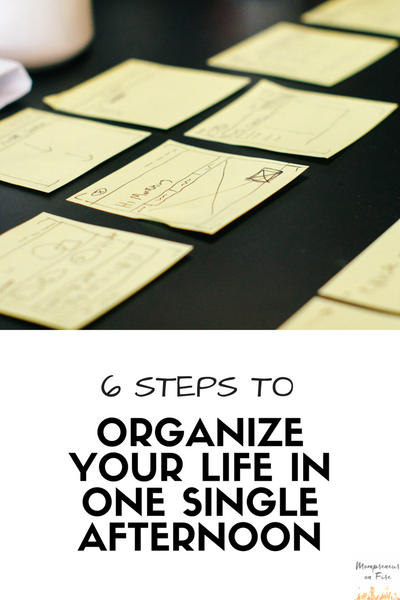 Mompreneur on Fire - Six Steps to Organize Your Life