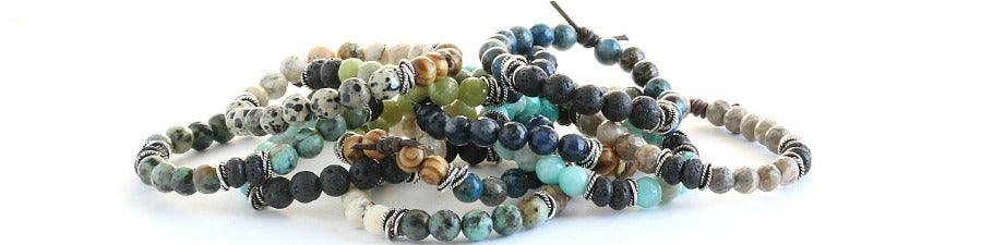 Gemstone Stack Bracelets