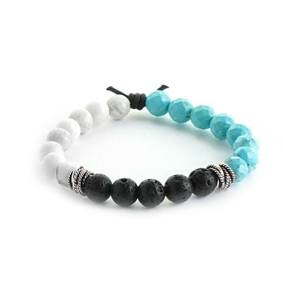 Lava rock aromatherapy bracelet to diffuse essential oils