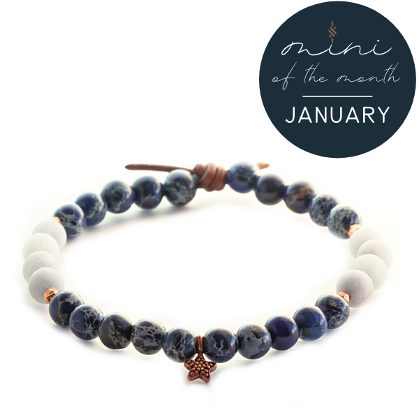 Blue Impression Jasper & Jade Mini Bracelet | January 2021 Mini of the Month