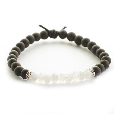 Dream Big Wood and Moonstone Diffuser Bracelet