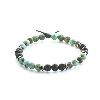Focus mini lava stone bracelet for diffusing essential oils on the go
