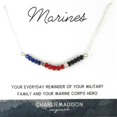 Marine Corps Necklace | A Tribute to Your Marine Corps Hero - Charliemadison Originals LLC