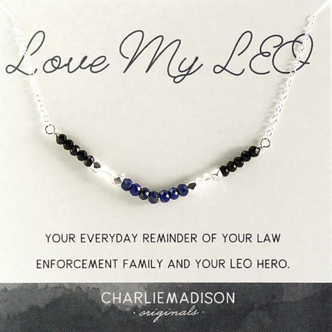 Love My LEO Necklace | A Necklace for Law Enforcement Families