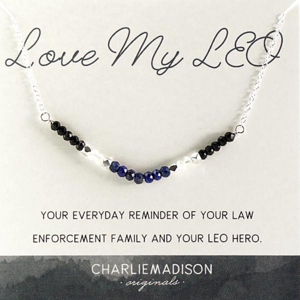 Love My LEO Necklace | A Necklace for Law Enforcement Families - Charliemadison Originals LLC