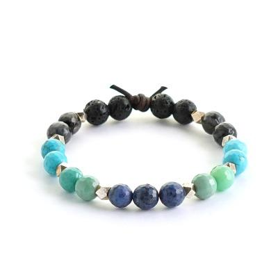 One Word Lava Stone Bracelet for aromatherapy