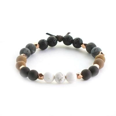 One Word essential oil diffuser bracelet with lava stone to diffuse your oils