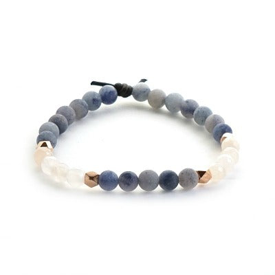 Shine Mini Bracelet - a mini meaningful bracelet with Pink Aventurine and Blue Aventurine gemstones