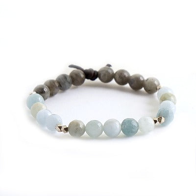 Trust Your Journey Bracelet | Aquamarine