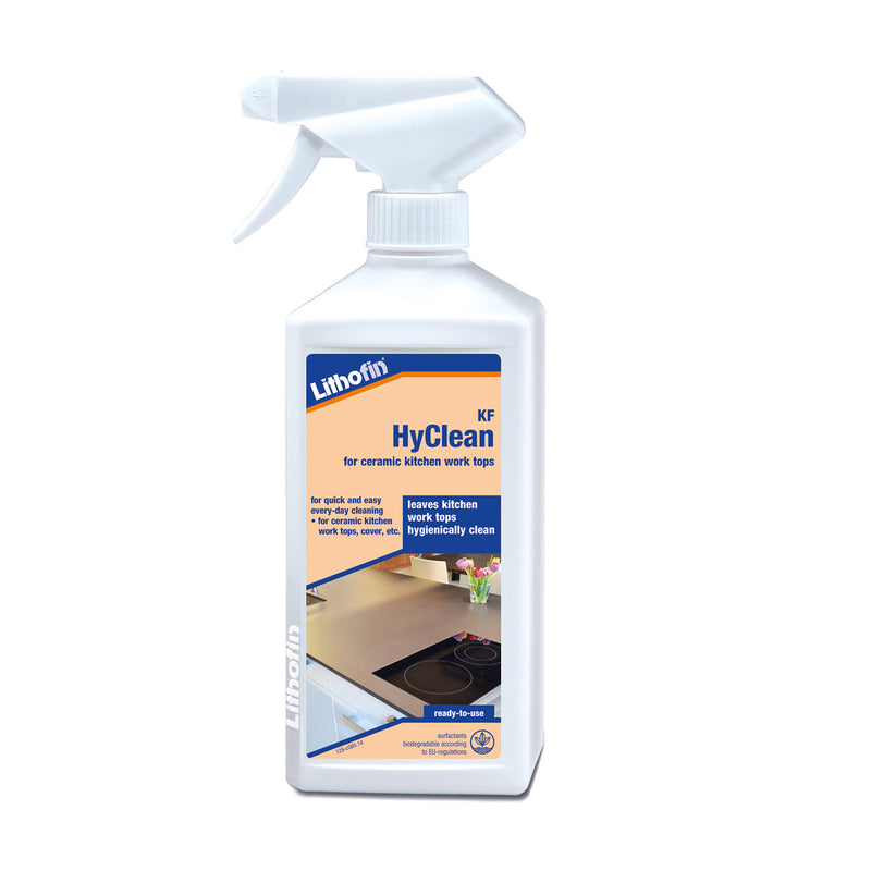 HyClean Lithofin product for ceramic kitchen work tops