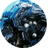 Blue hematite crystals recommended for Aries