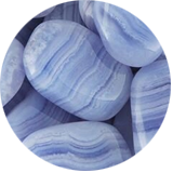 Blue late agate healing stone for Aries