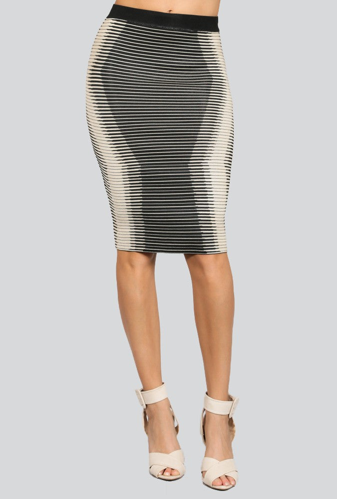 CORINNE' Illusion Jacquard Sweater Skirt