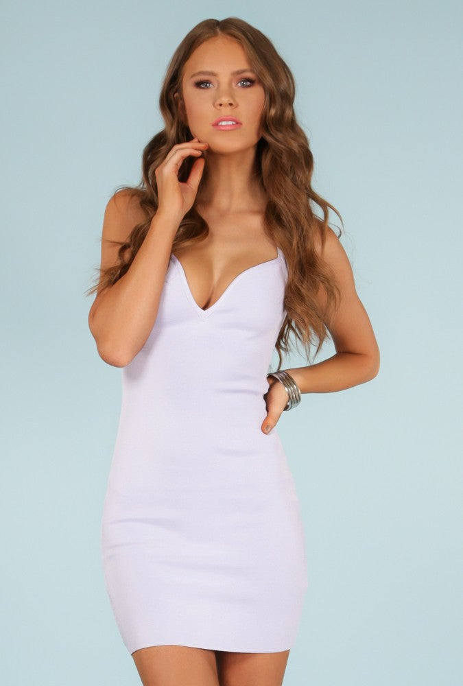 ZURI' Strappy Braided Back Sweetheart Bandage Dress