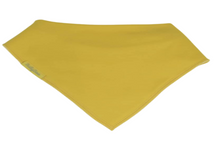 Load image into Gallery viewer, Plain yellow bandana style bib