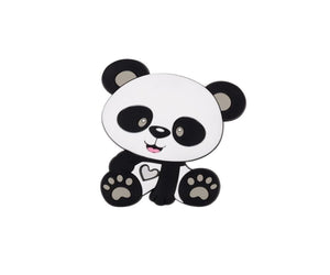 Black and White Panda Shaped Silicone teether
