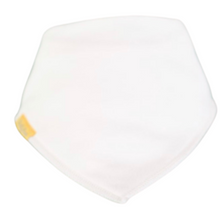 Load image into Gallery viewer, Plain white bandana style bib