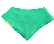 Load image into Gallery viewer, A plain green bandana syle bib
