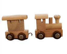 Load image into Gallery viewer, Small Wooden train and carriage