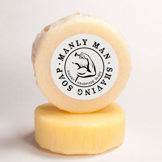 Manly Man Shaving Puck - Dalkey Handmade Soaps