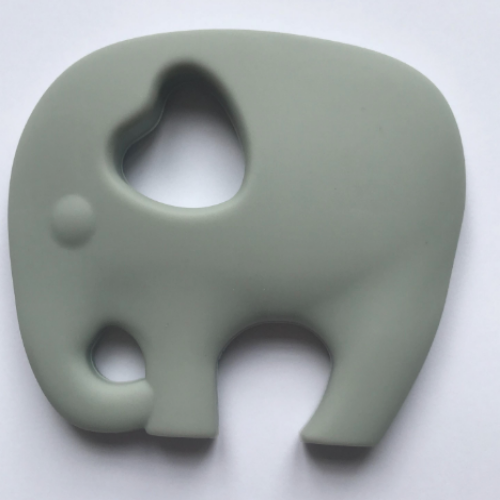 grey elephant teether made of silicone