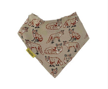 Load image into Gallery viewer, Fauna Kids by Babyboo Fox design Dribbleboo bandana style bib